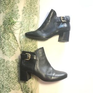 Naturalizer Nailah Ankle Boots Black Leather 5 1/2